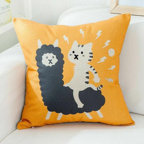 Patrón de plátano Funda para Almohadón Algodón lino Cubierta Cojín De Cintura Sofá Decoración del hogar