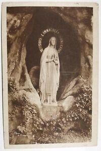 547-Antica-Cartolina-Pesanti-Vergine-da-la-Grotte