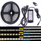 5M SMD RGB 3014 3528 5050 5630 300 600LEDs Flexible Strip Light Waterproof DC12V