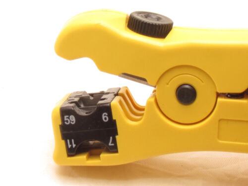 Cable Coax Coaxial Crimper Stripper Compression Tool F RG59 RG6 RG11 Connector