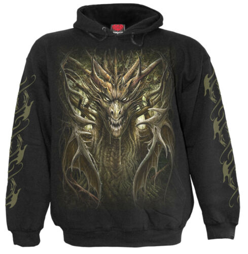 Spiral rock tribal hoody Forest Dragon metal Hooded skull biker Direct dragon fqwfrx8Z