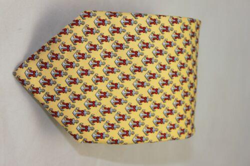 Vineyard Vines mens tie Anchor Ribbon yellow $85