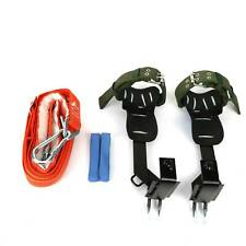 2 Gear Tree Climbing Spike Set Safety Belt Lanyard Rope Adjustable Rescue Belt
