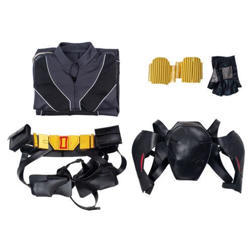 2020 Black Widow Natasha Romanoff Cosplay Costume Jumpsuit Outfit Full Set