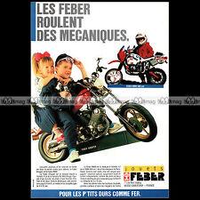 FEBER MOTO YAMAHA CHOPPER, BMW 1000 PARIS-DAKAR 1988 Pub / Publicité / Ad #A1580