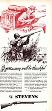 1942  Vintage ad  Stevens  Firearms Patriotic ad!
