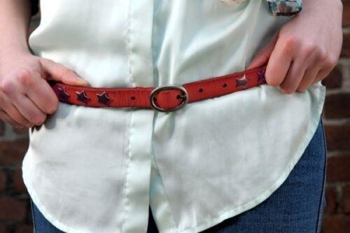 Cowboysbelt Sterngürtel red Gürtel 209039 Sam Brown 95cm Stern rot