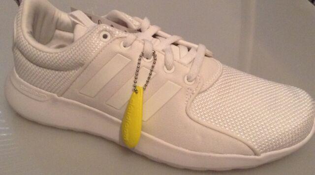 adidas Neo Label Cloudfoam Lite Racer Triple White Men Running Shoes ... 1f01fc7c5