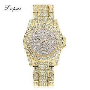 Watch Fully Iced Out MENS Gold Shiny Bling Bling Ice Diamond Shine ... 94b150cf1