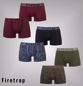 Mens-Branded-Firetrap-2-Pack-Comfortable-Two-Designs-Boxers-Underwear-S-XXL