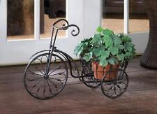 black iron scroll bicycle tricycle Shelf Shelves Plant pot planter Stand statue