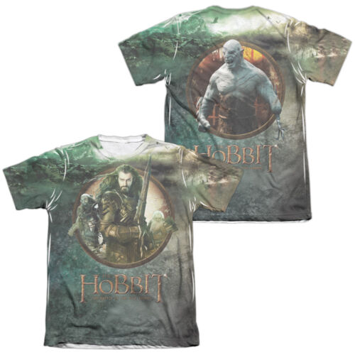 Hobbit Movie DWARVES VS AZOG 2-Sided Sublimated All Over Print Poly Cotton Shirt