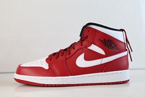 72c24f30a05 Air Jordan Retro 1 Mid Gym Red Black White 554724-605 7-14 black ...