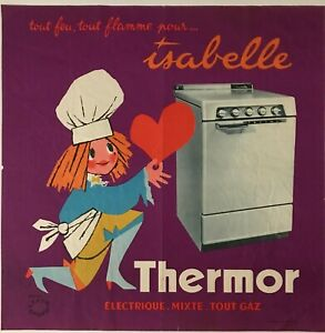 Thermor-and-Isabelle-d-039-apes-lefort-openo-circa-1960-original-poster