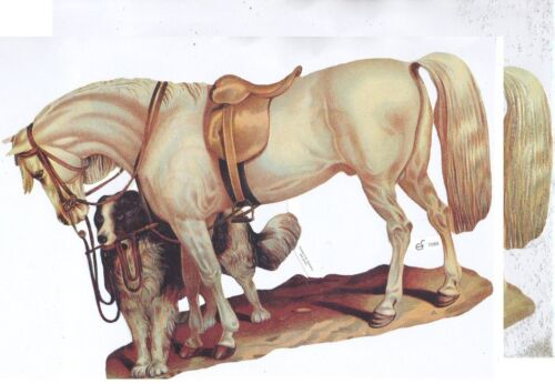 Chromo EF Découpis Cheval 7089 Embossed Illustrations Horse