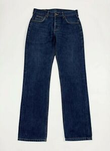 Lee-seattle-jeans-uomo-usato-W31-L34-L34-tg-45-denim-straight-boyfriend-T6226