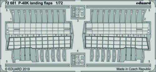 EDUARD 72681 Landing Flaps for Special Hobby Kit P-40K in 1:72