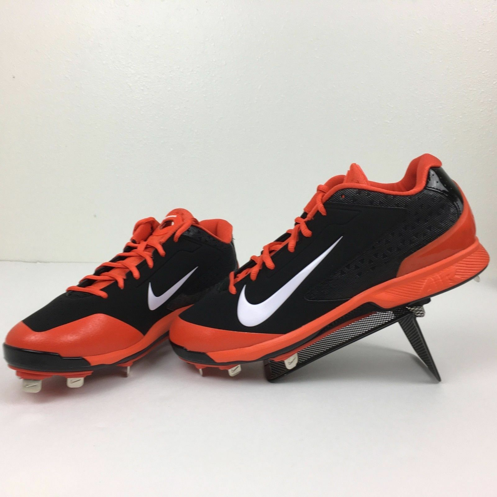 New shoes for men and women, limited time discount Nike Men's Air Huarache Pro Low Metal Baseball Cleats Orange/Black Comfortable