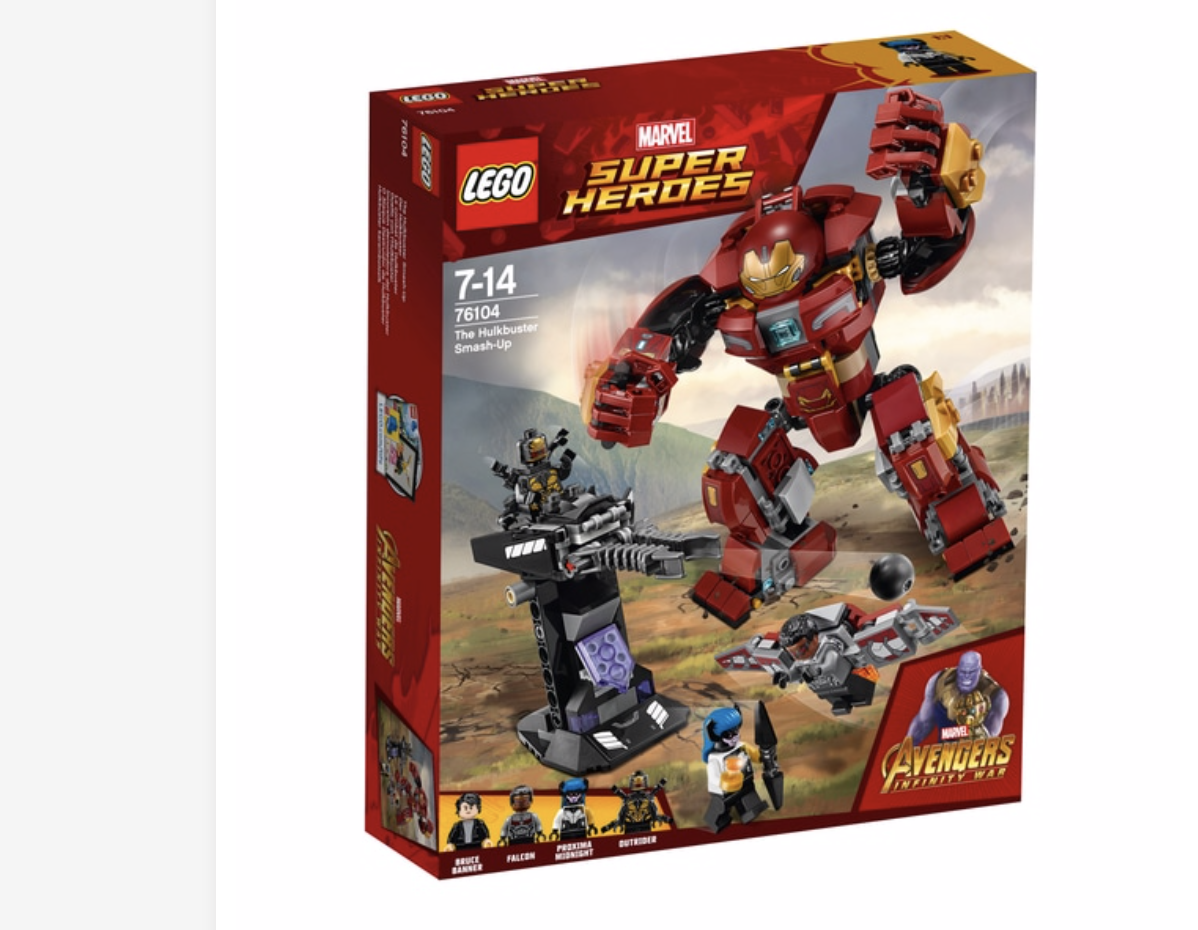 LEGO 76104 Marvel Avengers Hulkbuster Smash-up Superhero Toy