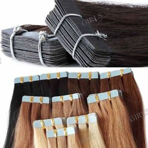 20-BANDES-EXTENSION-TAPE-ADHESIVE-CHEVEUX-100-NATURELS-INDIAN-REMY-40-65cm