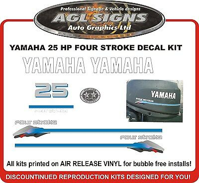 reproductions YAMAHA 25 hp four stroke outboard Decal kit