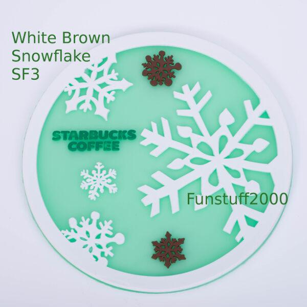 Xmas Winter Snowflake Mermaid Coasters for Japan Starbucks Coffee Cup