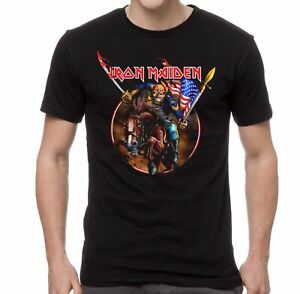 IRON-MAIDEN-cd-lgo-ENGLAND-CUSTER-Official-SHIRT-2XL-New-US-version