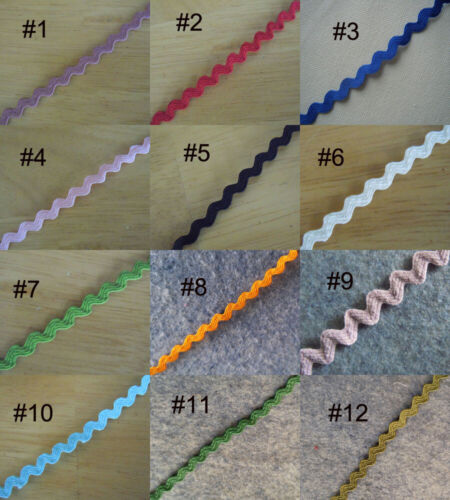 "5 Yards 1//4/"" Wide Ric Rac Rick Rack Trim Lace 12 Colors"