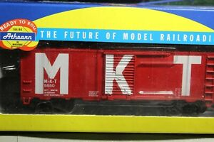 MKT-40-FOOT-BOXCAR-1-87-ho-BUILT-ATHEARN-M-K-T-5550-FOR-YOUR-LAYOUT
