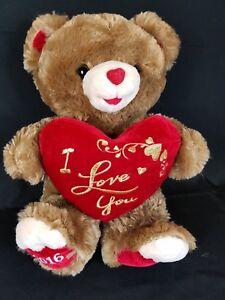 Dan-Dee-Sweetheart-Teddy-Bear-Brown-Red-Heart-I-Love-You-Plush-2016-18-034