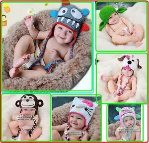 NEW-Baby-Crochet-Animal-Hat-Beanie-Knit-Crochet-Beanie-Cap-For-Winter-Baby-Gift