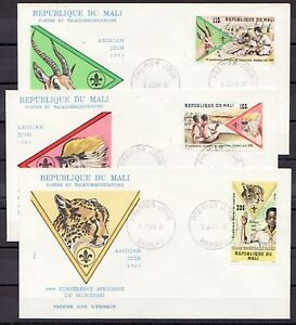 Mali-Scott-cat-425-427-4th-Scout-Conference-issue-3-First-day-covers