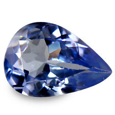 0.50 Carat Natural Blue TANZANITE Stone Pear Facet for Jewelry Setting