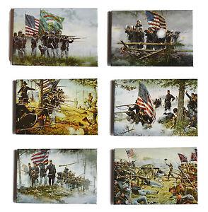 American-Civil-War-Battle-Of-Gettysburg-Dale-Gallon-Art-6-x-Fridge-Magnet-Set