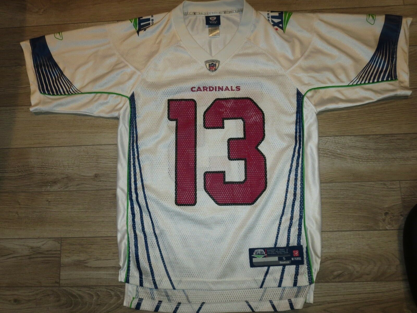 Kurt Warner Arizona Cardinals Super Bowl NFL Reebok Camiseta Sm HOMBRE