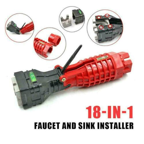 18 In 1 Faucet and Sink Installer Multifunctional Wrench Tools L9B7
