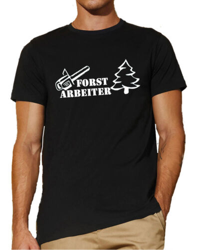 Waldarbeiter Forst-ArbeiterT-ShirtHolzfällerFörsterBaum  116-0