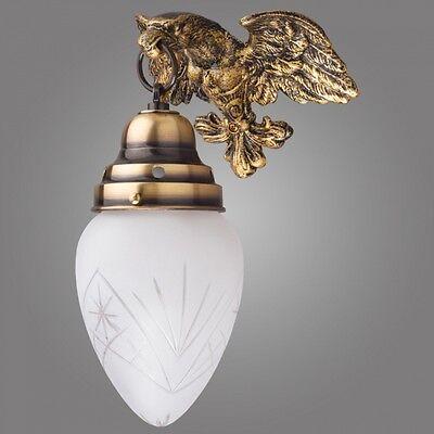 Stil Antik Exklusive Wandlampe Ouro aus Messing klassisch Wandleuchte