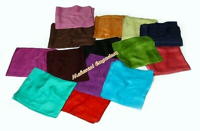 10 PCS PLAIN COLOURED NEW HIGH QUALITY SILK SCARF SHAWL SCARF WRAP WHOLESALE LOT