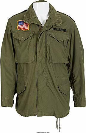 John Rambo First Blood M65 Commando Military US Army Green Cotton Jacket-Sale
