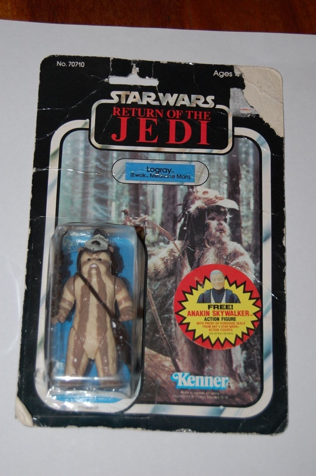 Logris-Estrella Wars-Regreso Del Jedi-menta en tarjeta-Vintage - 77-Back-México Lili Ledy