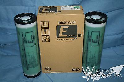2 Genuine Riso S-7197 Green Ink Risograph S-4259 EZ MZ RZ 220 390 590 790 990