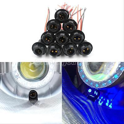 10Pcs T10 Sockets Xenon LED Light Bulb Car Truck Motorcycle For W5W/194/168/T15