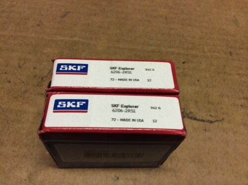 2-SKF bearings #6206-2RS1 30day warranty free shipping lower 48!