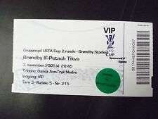 Tickets- 2005 UEFA Cup- BRONDBY IF v PETACH TIKVA, 3 November (VIP)