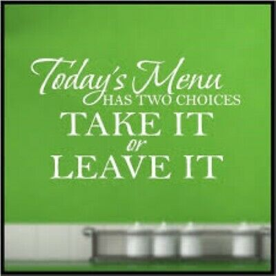 Today/'s Menu has 2 choices take it or leave chef cook food love resturant magnet