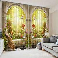 3d Corridor Animal Blockout Photo Curtain Printing Curtains Drapes Fabric Window