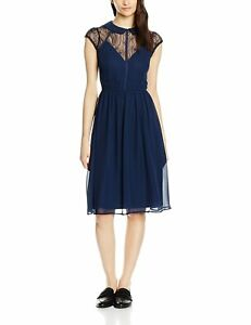 Elise-Ryan-Women-039-s-Chiffon-Skater-With-Collar-Dress-Size-12-New-With-Tag