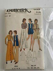 Vintage-6657-Butterick-The-Fashion-Uno-Patron-de-Costura-Talla-18-1-2-Busto
