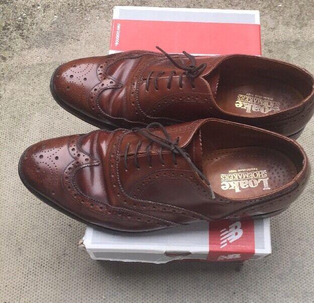 Loake chestnut marrone in pelle CALATA Tg EU 41.5 Scarpe classiche da uomo